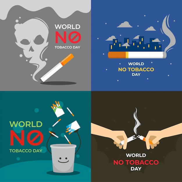 World no tobacco day illustration Premium Vector