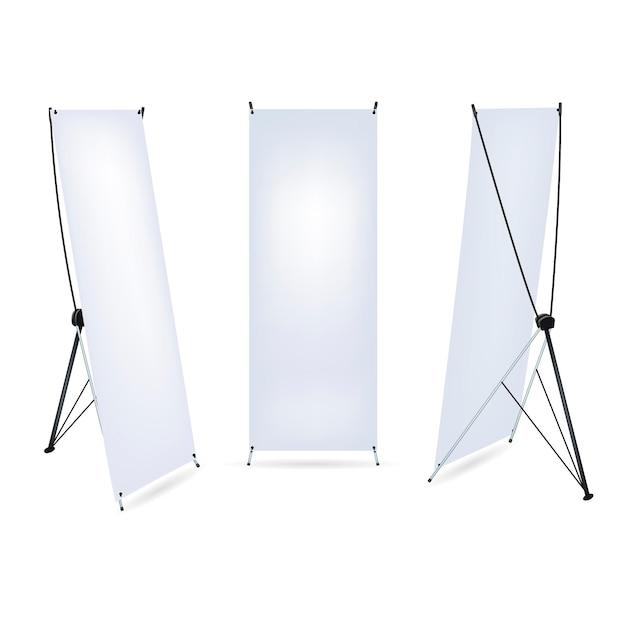 X stand banners illustratie Premium Vector