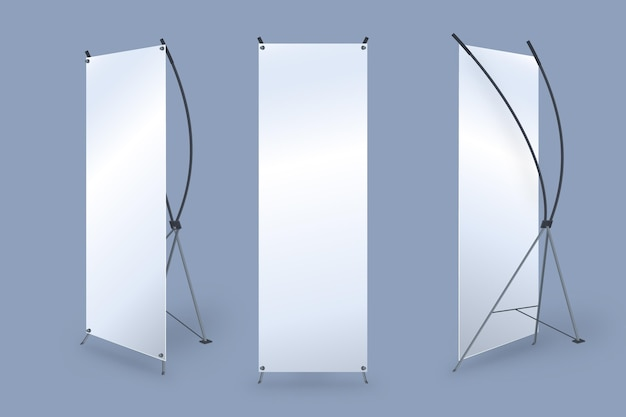 X stand roll-up banners Gratis Vector