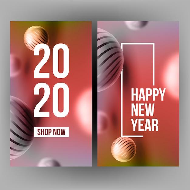 Xmas uitnodiging post card vieren 2020 Premium Vector
