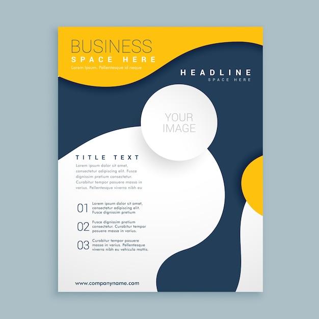 Yello dekking brochure flyer ontwerp poster folder sjabloon voor uw bedrijf Gratis Vector