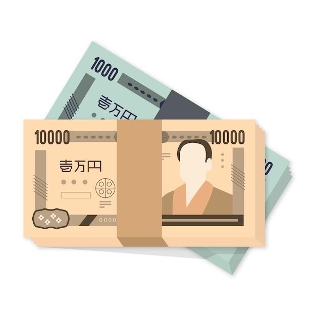 Yen-bankbiljetten Gratis Vector