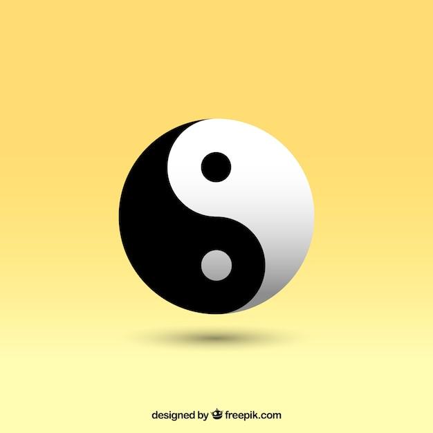 Yin yang vector Gratis Vector