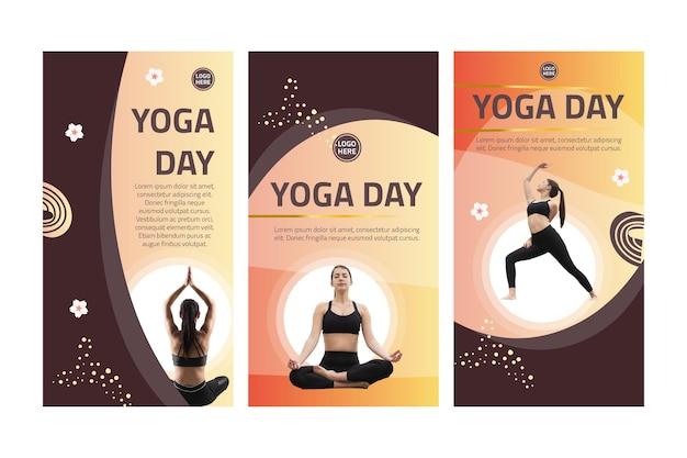 Yoga instagram-verhalen Gratis Vector