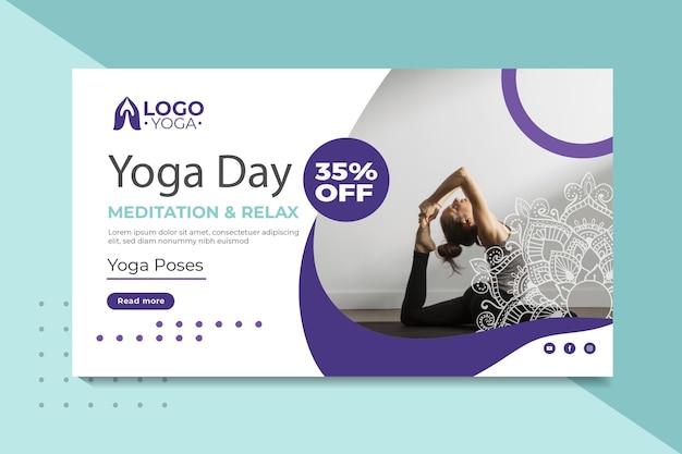 Yoga klasse sjabloon banner Gratis Vector