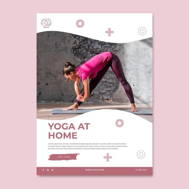 Yoga lichaam evenwicht poster Gratis Vector