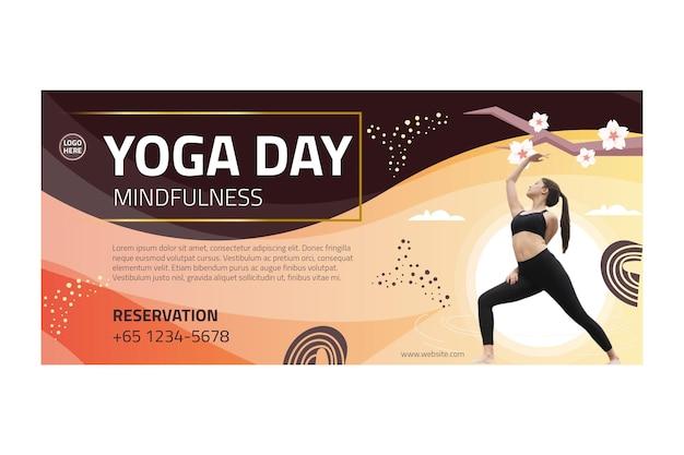 Yoga lichaamsbalans banner Gratis Vector