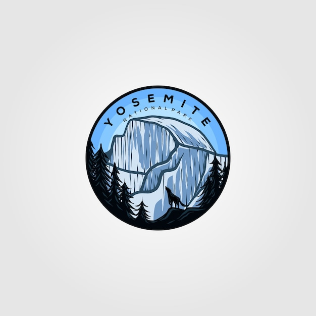 Yosemite logo vintage badge Premium Vector