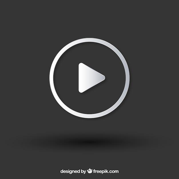 Youtube-speler pictogram met platte ontwerp Gratis Vector