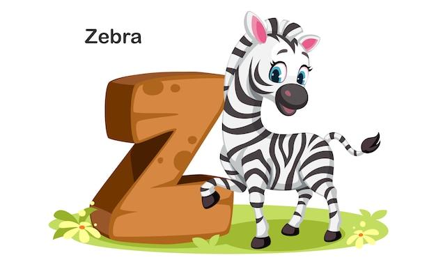 Z voor zebra Premium Vector