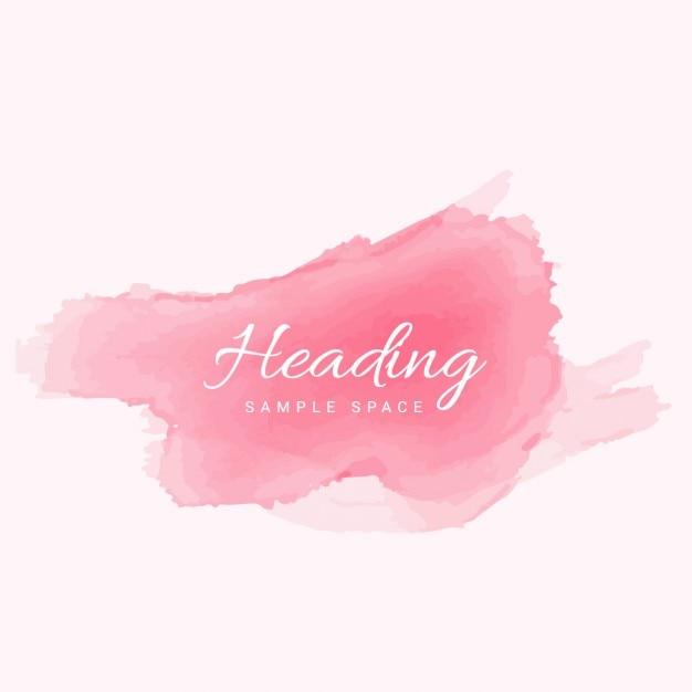 Zacht roze aquarel vector gratis download - Hoe roze verf ...