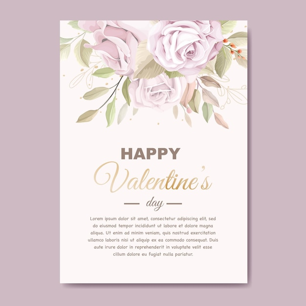 Zacht roze valentijnsdag wenskaart Gratis Vector