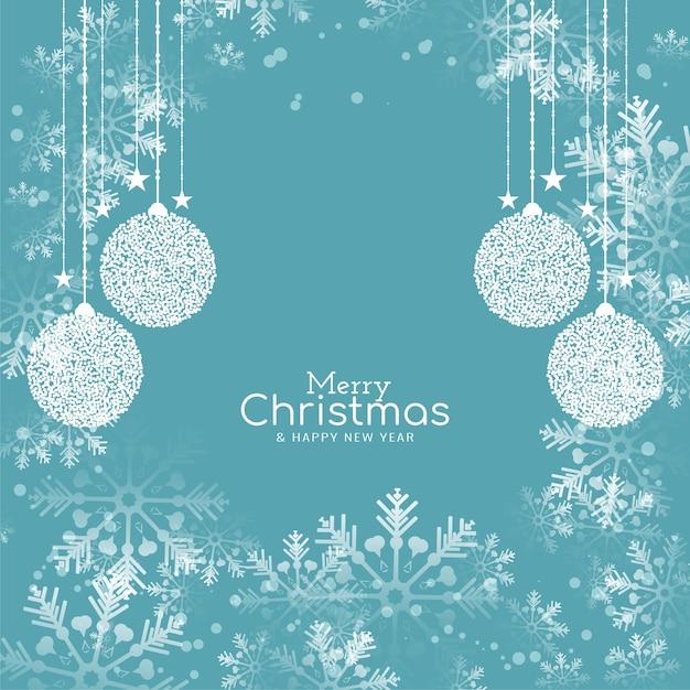 Zachte egale kleur merry christmas festival elegante achtergrond Gratis Vector