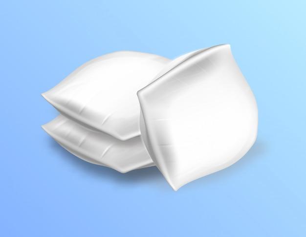 Zachte lege rechthoekige kussens zijaanzicht Premium Vector