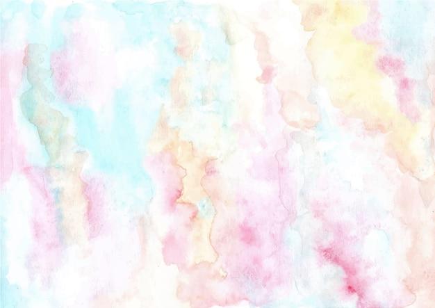 Zachte pastel abstracte aquarel textuur achtergrond Premium Vector