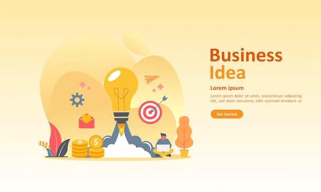 Zakelijk brainstormen Premium Vector