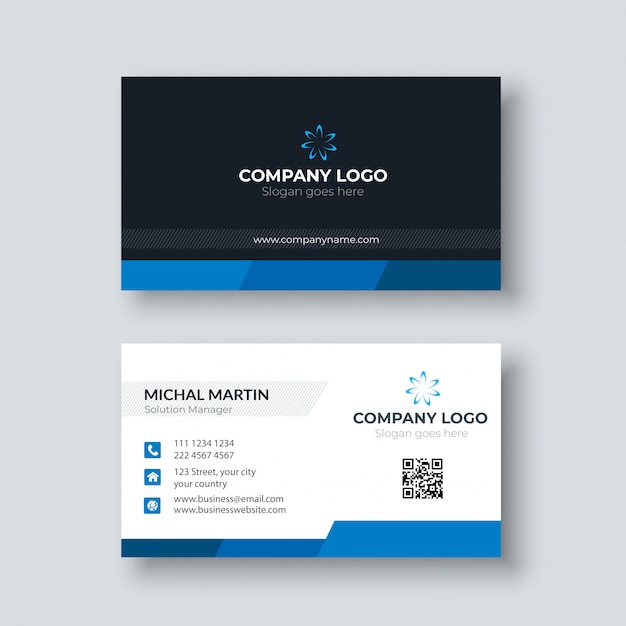 Zakelijk visitekaartje Premium Vector