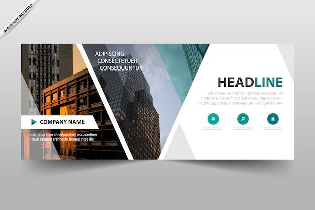 Zakelijke banner koptekst sjabloonontwerp Premium Vector