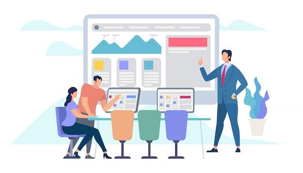 Zakelijke bijeenkomst en teamworking Premium Vector
