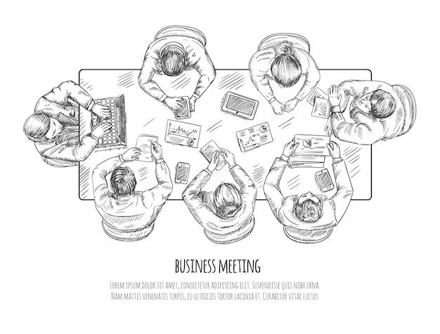 Zakelijke bijeenkomst Gratis Vector