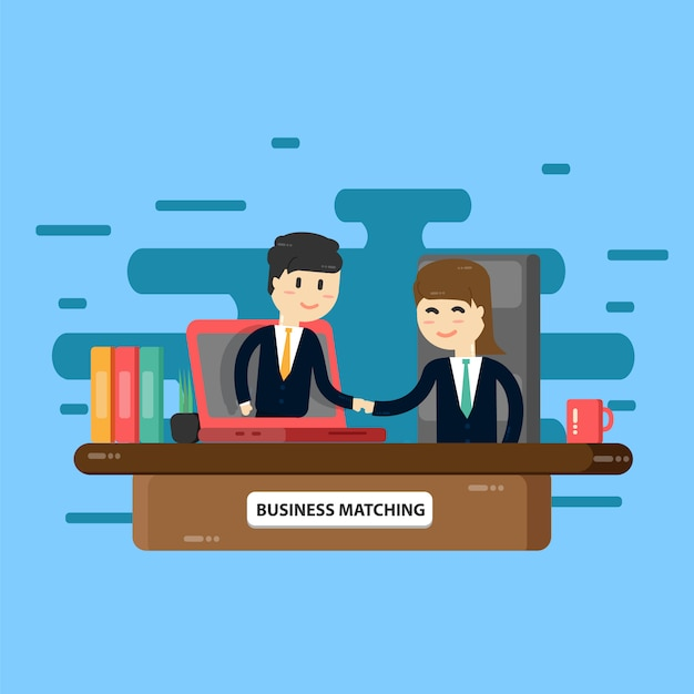 Zakelijke bijeenkomst Premium Vector