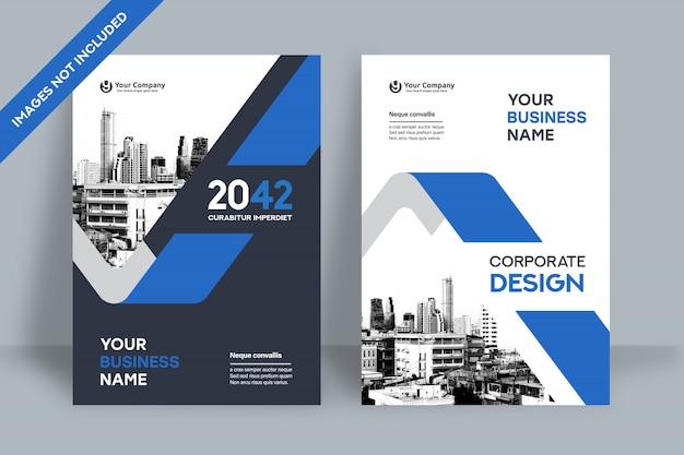 Zakelijke boekomslag ontwerpsjabloon Premium Vector