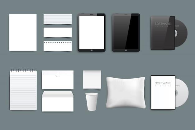 Zakelijke briefpapier Premium Vector
