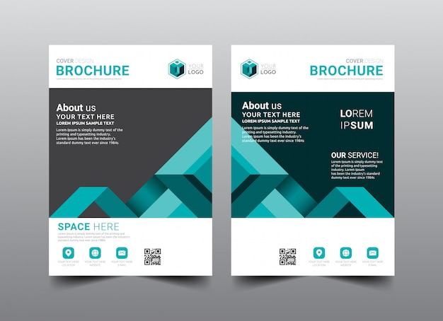 Zakelijke brochure cover lay-out sjabloonontwerp. Premium Vector