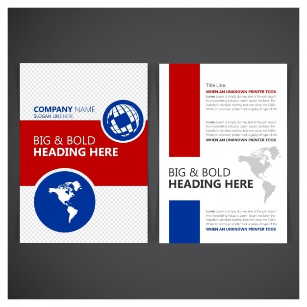 Zakelijke brochure flyer ontwerp Gratis Vector