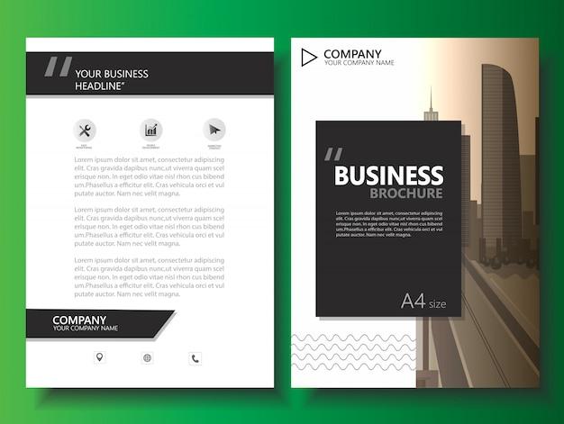 Zakelijke brochure folder vintage vector sjabloon Premium Vector