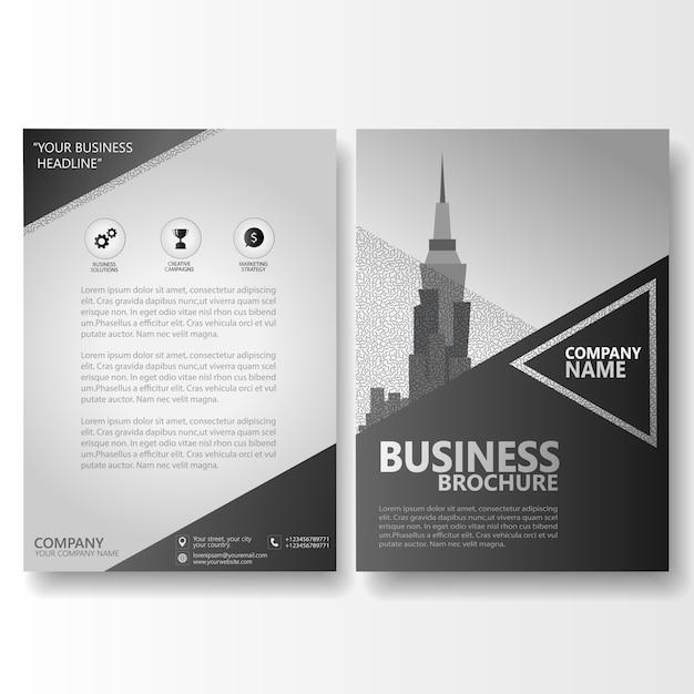Zakelijke brochure folder Premium Vector