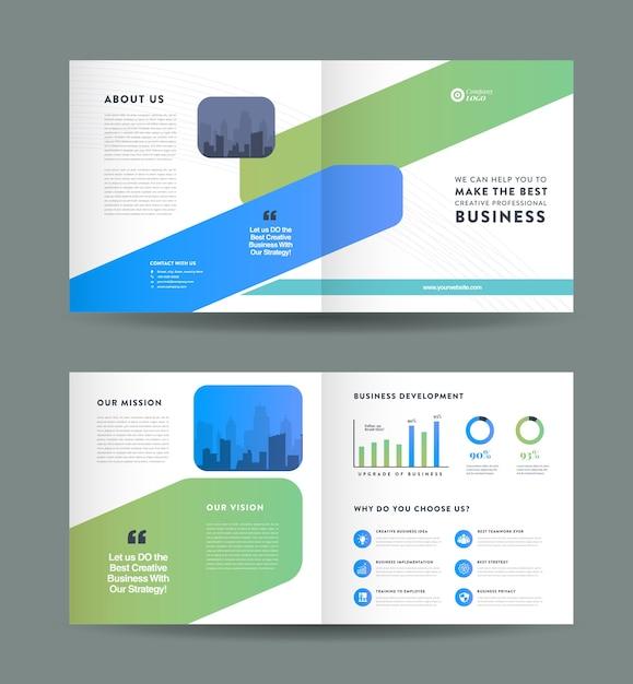 Zakelijke brochure omslagontwerp Premium Vector