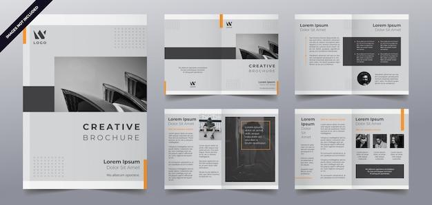Zakelijke brochure pagina's sjabloon Premium Vector