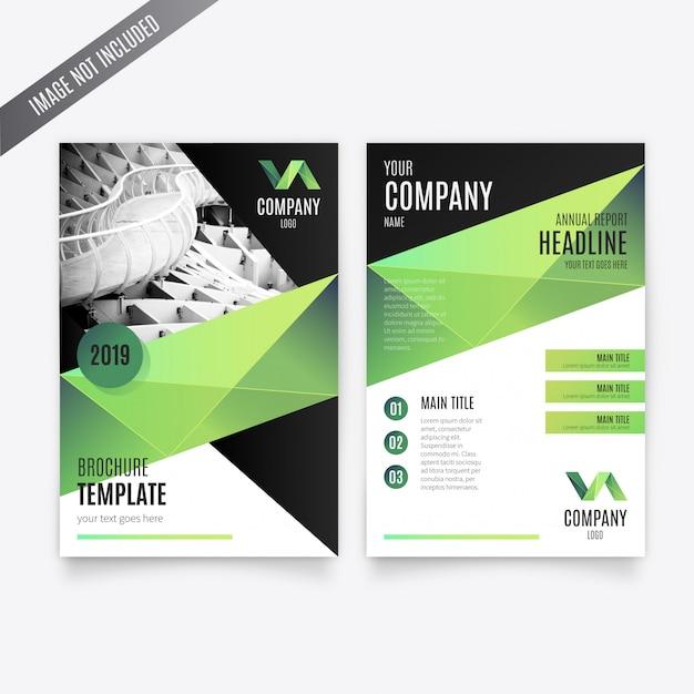 Zakelijke brochure-sjabloon Gratis Vector