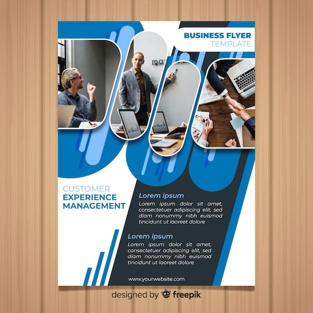 Zakelijke brochure sjabloon Gratis Vector