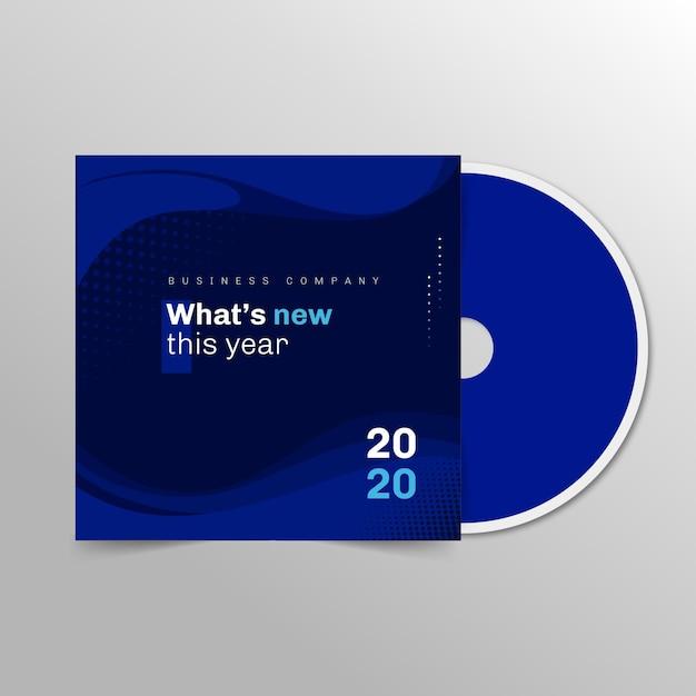 Zakelijke cd-omslagsjabloon Gratis Vector