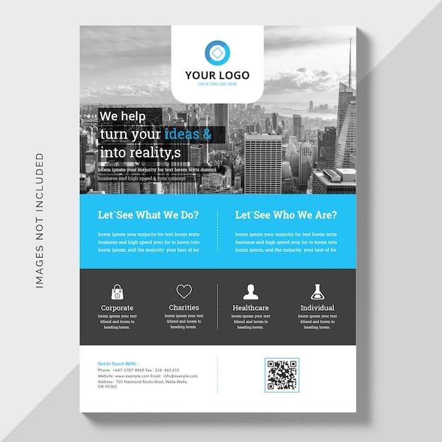 Zakelijke commerciële brochure Gratis Vector