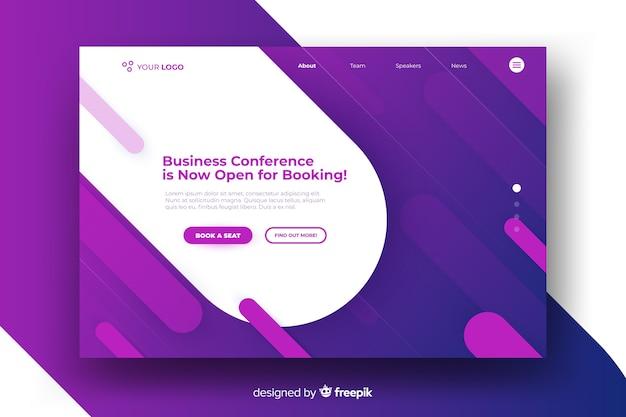 Zakelijke conferentie bestemmingspagina Gratis Vector