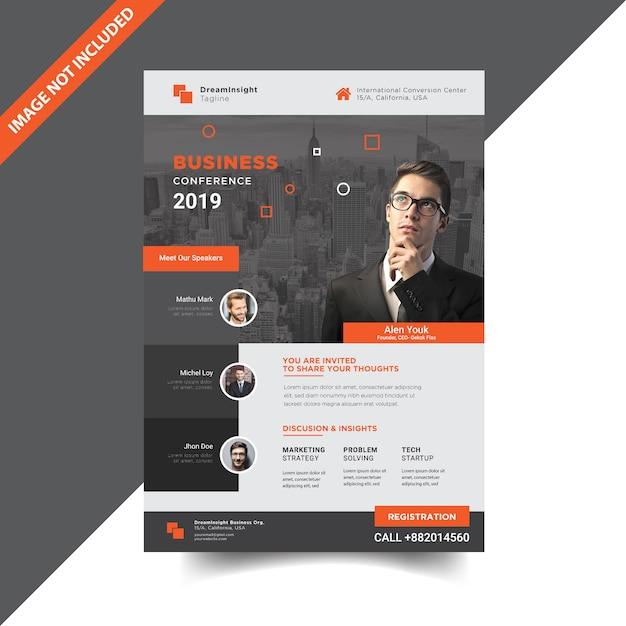 Zakelijke conferentie sjabloonontwerp Premium Vector