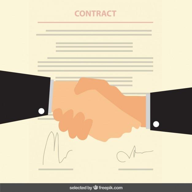 Zakelijke contract Gratis Vector