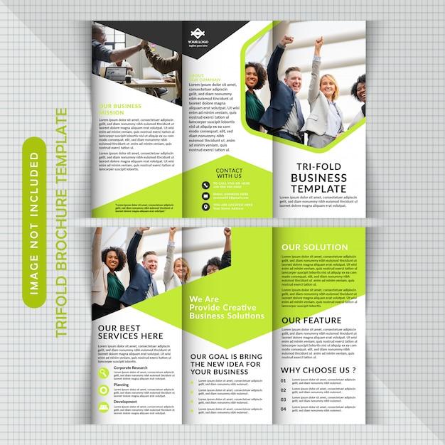 Zakelijke corporate tri fold-sjabloon Premium Vector