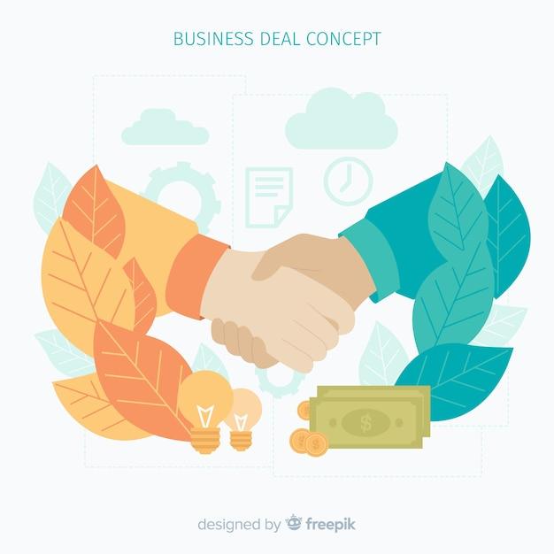 Zakelijke deal concept achtergrond Gratis Vector