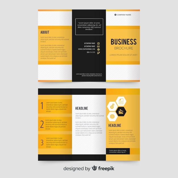 Zakelijke driebladige brochure sjabloon Gratis Vector