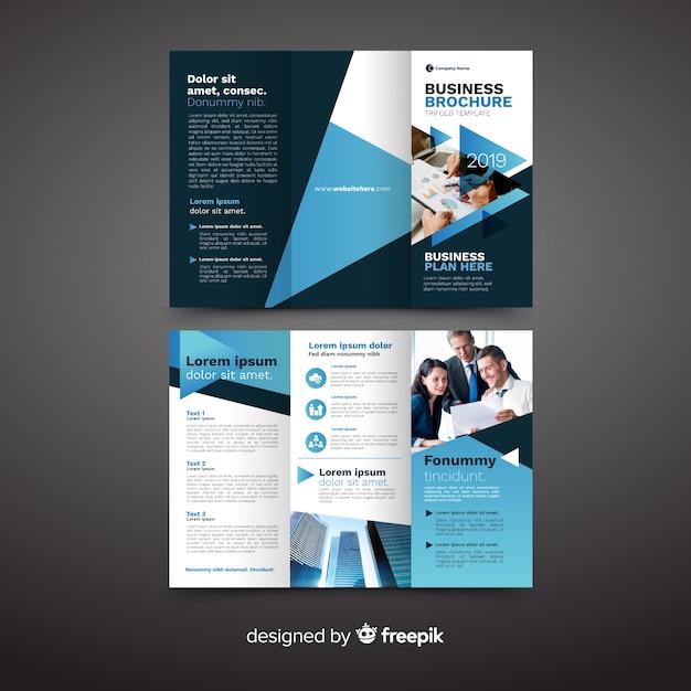 Zakelijke driebladige brochure Gratis Vector