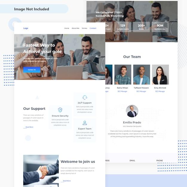 Zakelijke en financiële e-mail sjabloon ui ontwerp Premium Vector