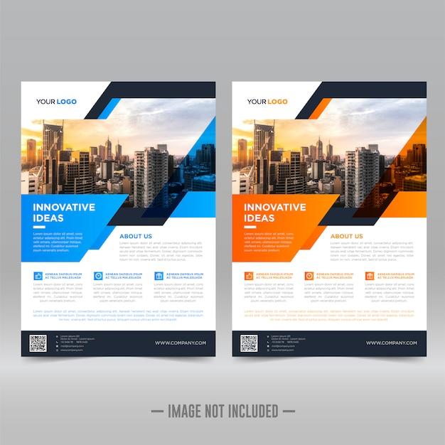 Zakelijke flyer ontwerpsjabloon Premium Vector
