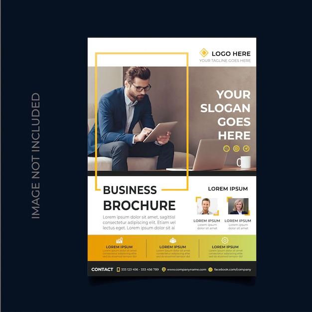 Zakelijke folder sjabloon Premium Vector