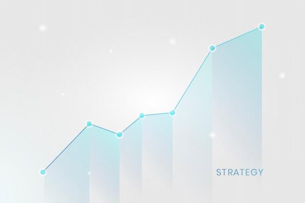 Zakelijke groeigrafiek Gratis Vector