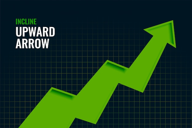 Zakelijke helling groei opwaartse pijl trend achtergrondontwerp Gratis Vector