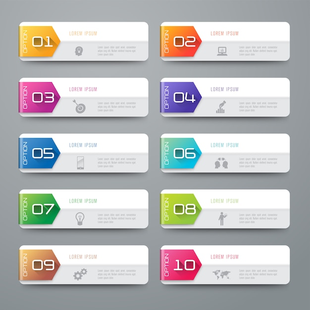 Zakelijke infographic elementen Premium Vector